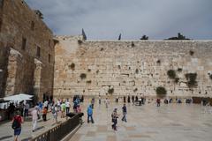Old Jerusalem .Wailing Wall . israel Stock Photos