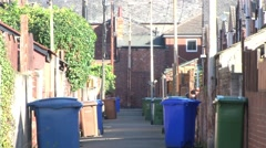 Back to Back Houses Alleyway Stock Footage