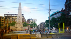 AMSTERDAM, NETHERLANDS: Monument dedicated to victims of World War II Stock Footage