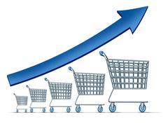 Sales increase Stock Illustration