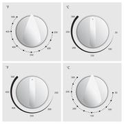 oven dial vector - stock illustration
