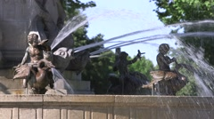 ROTUNDA FOUNTAIN STATUES, AIX, FRANCE Stock Footage