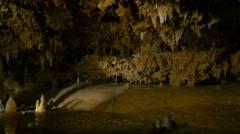 Stalactites and stalagmites Stock Footage