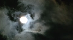 Clouds Passing In Front Of Moon Stock Footage