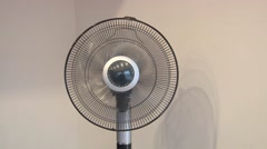 Fan Starts Rotating Sideways Stock Footage