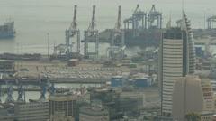 Haifa - Israel - Port - 30P - UHD 4K - Flat Stock Footage