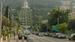 Haifa - Israel - Baha'i Gardens / German Colony - 30P - UHD 4K Stock Footage