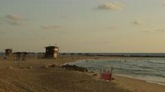 Haifa - Israel - Carmel Beach - 30P - UHD 4K Stock Footage