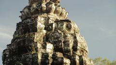 Tilt Head Bayon Temple Stock Footage