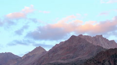 Clouds over mountains. Time Lapse. Pamir, Tajikistan Stock Footage
