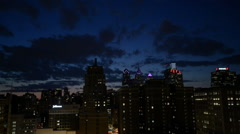 Philadelphia Skyline at Dusk Stock Footage