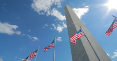 Washington Monument in D.C 4k Stock Footage