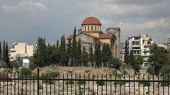 Athens Greece Holy Trinity Church Kerameikos Cemetery 4K 041 Stock Footage