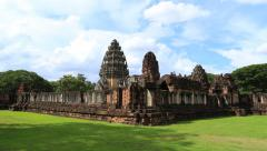 4K Time lapse of Phimai Historical Park, Thailand Stock Footage