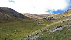 Beautiful mountain peaks in Spain (Pyreness) Stock Footage