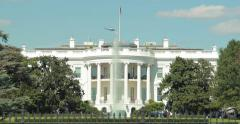 White House tilt down in Washington D.C 4k - stock footage