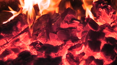 Fire in stove Stock Footage