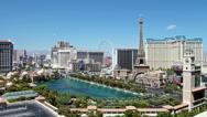 Stock Video Footage of beautiful Las Vegas panorama at daytime, time lapse