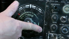 Aircraft control turn to port Stock Footage