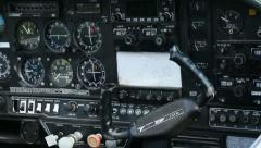 Aircraft panel and controls 02 Stock Footage