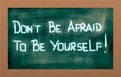 Don't be afraid to be yourself concept Stock Illustration
