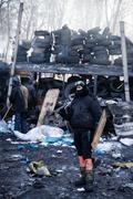 Kiev, ukraine - january 26, 2014: mass anti-government protests in the center Kuvituskuvat