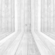 Stock Photo of big white wood plank floor texture background