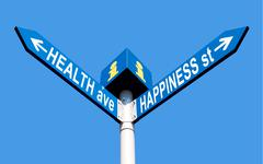 Health ave and happiness st Stock Photos