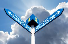 Stock Photo of strategy blvd and success ave