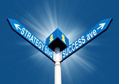 Strategy blvd and success ave Stock Photos