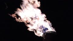 Oil Refinery HD 1080P : refinery fire gas torch  DSCN2989 Stock Footage