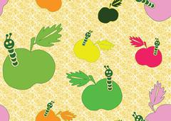 Seamless background with apples Stock Illustration