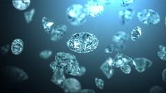 Frozen diamonds, beautiful background Stock Footage