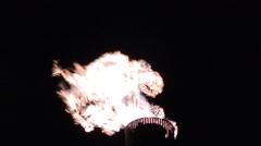 Oil Refinery HD 1080P : refinery fire gas torch   DSCN3006 Stock Footage