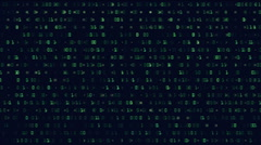 Scrolling numbers - matrix style animation Stock Footage