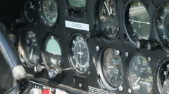 Aircraft panel and controls 03 Stock Footage
