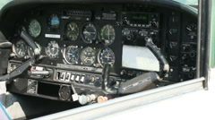 Aircraft panel and controls 09 Stock Footage