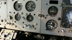 Aircraft panel hand flicks switch 01 Stock Footage