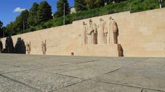Geneva,Reformateurs monument Stock Footage