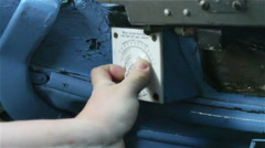 Roll royce control and hand Stock Footage