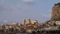 Types of Cefalu (Cefalù) city. Sicily, Italy. Stock Footage