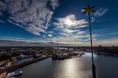 aerial view of stockholm - stock photo