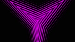 Hypnotic Triangles Pink tunnel Stock Footage