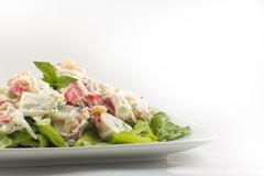 mayonnaise seafood salad - stock photo