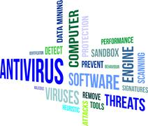 word cloud - antivirus - stock illustration