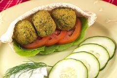 Falafel in a pita pocket Stock Photos
