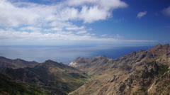 Tenerife coasline from high elevation point, Spain - stock footage