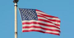American flag stars and stripes waving 4k Stock Footage