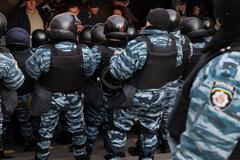 mass protest against the refusal of the government of ukraine on european int - stock photo