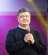 Most rating ukrainian presidential candidate petro poroshenko Stock Photos